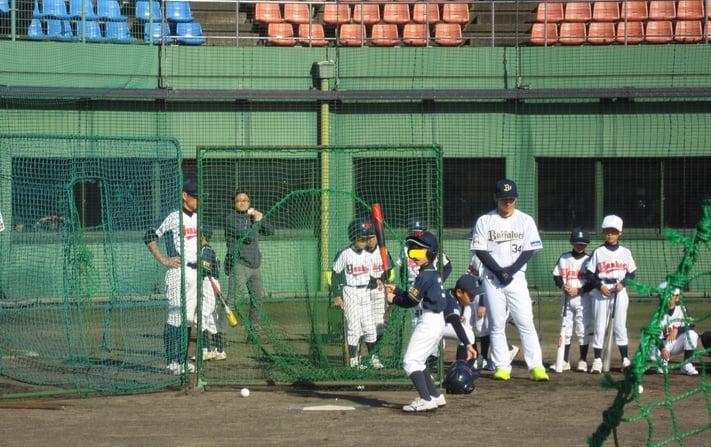 少年野球教室の風景